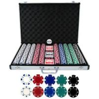 Buy cheap 1000pcs Chip Set With Aluminum Case, Clay Poker Chip from wholesalers