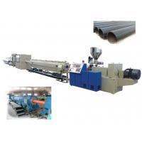 Buy cheap HDPE Plastic Pipe Extrusion Line For Water / Gas Pipe , Plastic Pipe Extrusion Machinery from wholesalers
