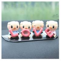 Buy cheap 4pcs set resin lovely pig wedding promotion gift souvenir from wholesalers