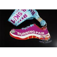 Buy cheap Shoe Shape Custom 5k Medals , Custom Olympic Medals Antique Color Plating from wholesalers