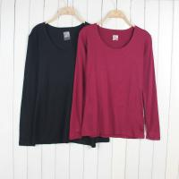 Buy cheap stock appareL Selling leads-9Kpcs Weatherproof ladies long/full sleeve scoop neck t-shirt from wholesalers