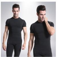 Buy cheap Quick Drying Mens Short Sleeve Compression Top Customized Color Light Weight from wholesalers