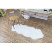 Buy cheap Hotel Pure Off White Faux Fur Rug , Faux Fur Throw Rug Wool Fake Sheepskin from wholesalers