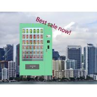 Buy cheap Salad Vegetables Glass Bottle Combo Vending Machine Indoor Big Touch Screen from wholesalers