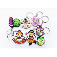 Buy cheap Cartoon Animal Soft Pvc Keychain 3D Engraved Shape With Full Color Printing from wholesalers