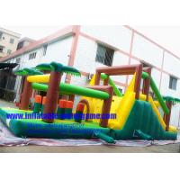 Buy cheap Jungle Backyard Giant Inflatable Obstacle Course Equipment Portable Toy from wholesalers