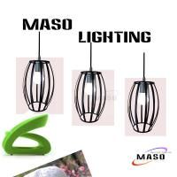 MASO Artistical Drum Shape Iron Material Vintage Pendant Lamp MS-I6008