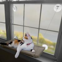 Buy cheap Sunny Window Mounted Pet Beds For Cats , Washable Cover Comfortable Cat Hammock from wholesalers