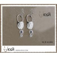 Buy cheap 925 Fashion jewelry sterling silver gemstone earrings with PP bag packing W-AS1084 from wholesalers