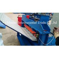 China Corrugated Sheet Automatic Pneumatic Crimping Machine With Double Cylinder Cutting on sale