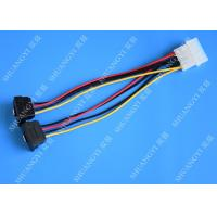 Buy cheap Computer Molex 4 Pin To 2 x15 Pin SATA Data Cable Right Angle Pitch 5.08mm from wholesalers