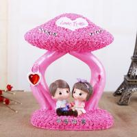 Buy cheap Romantic Resin Lover Coin bank with Diamond Wedding Gift Piggy bank/money box for Adult from wholesalers