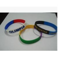 Buy cheap New customed print logo promotional silicon bracelet sprots club outdoor advertising gift from Wholesalers