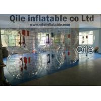 Buy cheap Amusement Playground Air Bubble Football Soccer Half Green And Orange Color from wholesalers