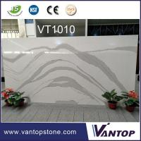 Buy cheap White Marble Vein Composite Quartz Stone for Kitchen Countertop from wholesalers