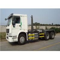 10 Wheel 6x4 Garbage Collection Trucks 290HP Engine Trucks Hook Lift Bin Truck