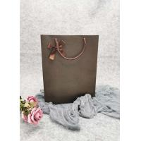 Buy cheap Dots Pattern  Brown Personalized Paper Wine Bottle Gift Bags Shiny Foil Gold Color from wholesalers