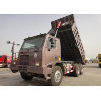 10 Wheels 70 Ton Dump Truck , 371HP HOWO Mining Dump Truck 14.00 - 25 Tire