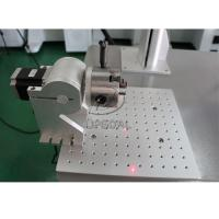 Buy cheap 20W Aluminum Material Fiber Laser Marking Machine with Rotary Clamp from wholesalers