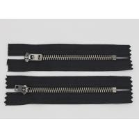 Buy cheap Highly Polished  Jeans Metal Zipper Black Nickel Teeth For Fashion Lady Jeans And Dress from wholesalers