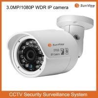 Buy cheap SunView 3.0mp WDR CMOS sensor HD network support POE IR bullet CCTV security IP camera from wholesalers