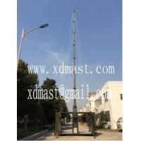 Buy cheap 20m heavy duty telescoping telecommunication antenna tower mast in shelter and mobile shelter antenna tower from wholesalers