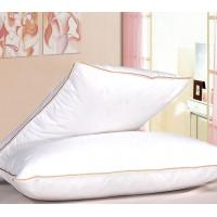 Gold Piping Cotton Hotel Down Feather Pillow Eco