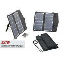 China 14w Portable Solar Power RV Battery Charger With Mountain - Climbing Buckles  on sale