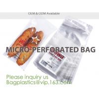 Buy cheap Microperforation blocked bags,microperforated bag for fruit and vegetable,Microperforation triangle bopp sandwich packag from wholesalers