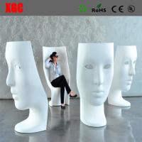 Buy cheap Funny Fiberglass Mask Arm Chair Patio Fiberglass Outdoor Mask Chair Back Rest Leisure Mask Chair from wholesalers