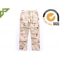 Buy cheap Desert Military Tactical Pants Built In Knee Pads For Security Guard / Police Outdoor Sport from wholesalers