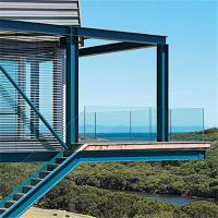 Buy cheap Frameless U base channel glass railing for stair handrail from wholesalers