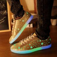Buy cheap Fluorescent Glow Adult Light Up Shoes , App Control Led Sole Shoes Breathable from wholesalers
