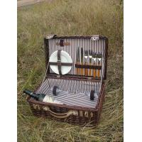 Buy cheap wicker picnic basket with lid and fabric lining from wholesalers