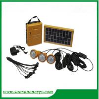 Buy cheap High quality solar lighting kits with FM radio function, 3w solar panel mini solar lighting system for hot sale from wholesalers