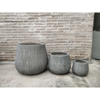 Buy cheap New design high strength rough surface light grey planter pots from wholesalers