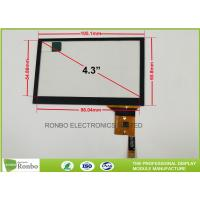 Buy cheap Thin Thickness Projected Capacitive Touch Panel I2C Interface 4.3 inch from wholesalers