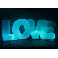 Buy cheap Wedding Inflatable Lighting Decoration Love Led Letter Balloon For Stage from wholesalers