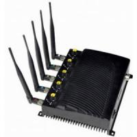 Buy cheap Signal jammer   Adjustable Desktop Five Bands Signal Jammer for Cell Phone, GPS, WiFi product