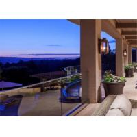 Buy cheap Outside Balcony Glass railing/Stainless Steel Handrail/ U Channel glass railing from wholesalers