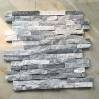 Buy cheap Cloud Grey Shiny Quartzite Flat Culture Stone Wall Panel With Lowest Price&Good Quality Export to Europe Market In Stock from wholesalers
