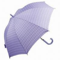Buy cheap Straight Automatic Umbrella with Black Shaft, Color Matching Crook Handle and 56cm x 8 Ribs Size from wholesalers