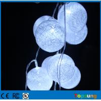 Cotton Ball String Lights Battery : cotton ball 10leds string battery powered led christmas light of topsunglighting-com