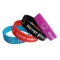 Buy cheap Cutom Cheap Embossed and Imprinted Silicone Wristband, Embossed Rubber Bracelet from wholesalers