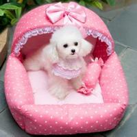 Buy cheap pink princess dog PET Bed with candy Pillow from wholesalers