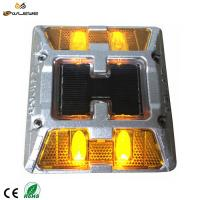 Buy cheap Super strong high bright  aluminum cat eye pavement marker solar LED reflective Road Stud from wholesalers
