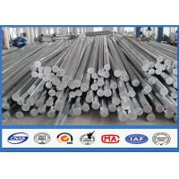 Buy cheap 9M 10M Electric Distribution Galvanized Steel Pole tapered steel tube 10 KV ~ 550 KV from wholesalers