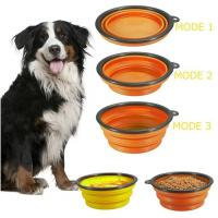 Buy cheap dog bowl plastic feeder pet cat food collapsible dog bowl silicone foldable dog food bowl portable travel pet water bowl from wholesalers