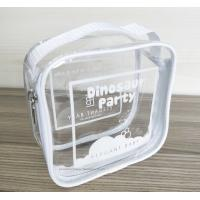 Buy cheap 100% handmade Transparent PVC Reusable Ziplock Bags 14*14*7 CM from wholesalers