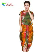 Buy cheap OEM ODM Womens Linen Suits Clothing , Custom Printed Chinese Style Blouse from wholesalers